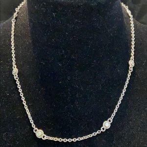Judith Ripka SS/Diamonique Station Chain Necklace
